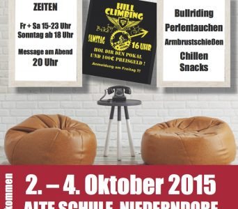 Oktober 2015: Jugendtage des CVJM Niederdorf und der DZM
